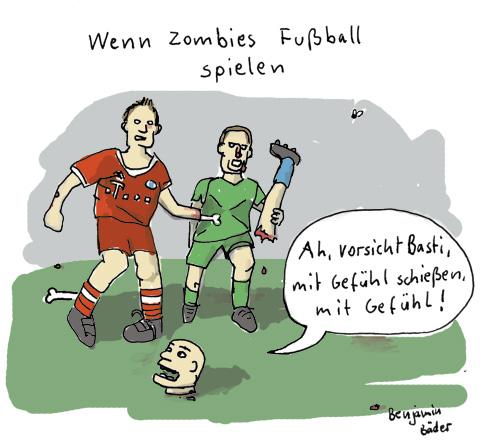 Wenn Zombies Fussball spielen